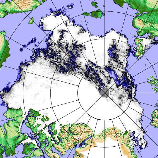 Satellite image of the Arctic Sea Ice on August 27th 2013 - Click for a video!