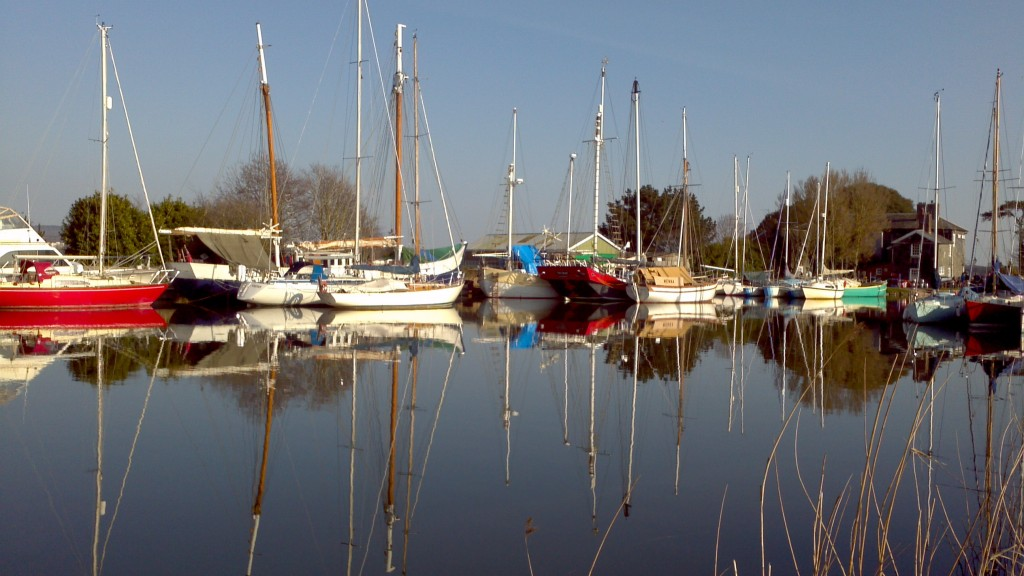 Blue skies and still waters at The Turf Locks on April 6th 2013