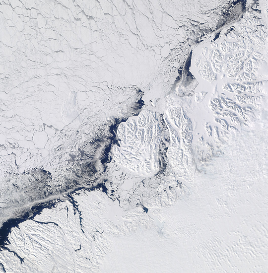 The Disko Bay area of western Greenland on March 28th 2012