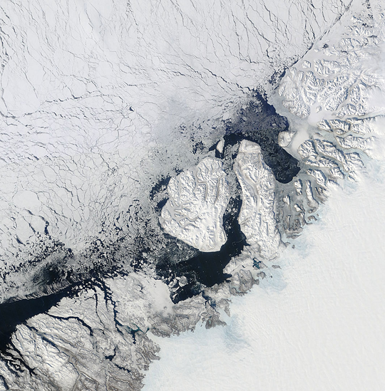 The Disko Bay area of western Greenland on March 28th 2013