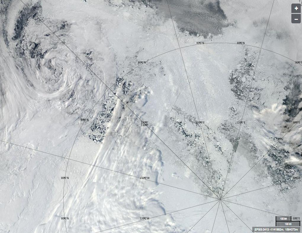 A view of the Arctic from the Aqua satellite on August 27th 2013