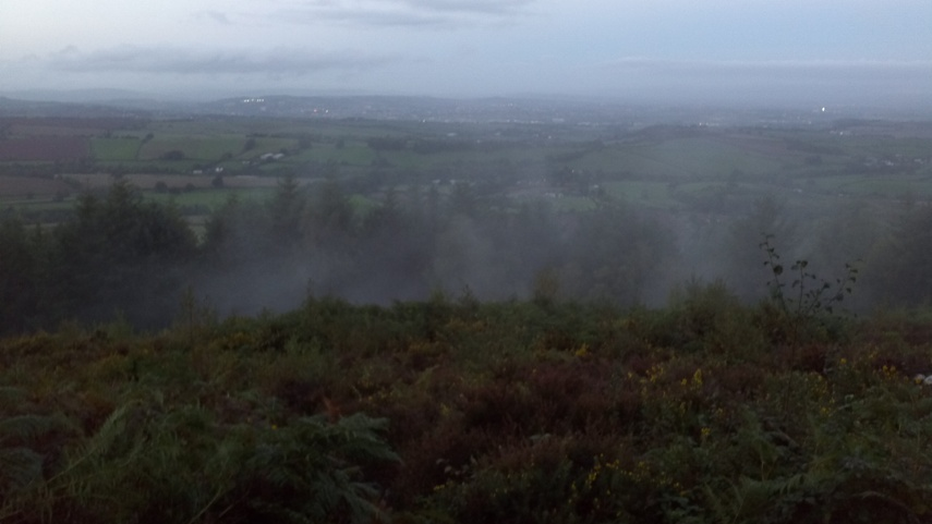 A misty view of Exeter from afar on October 3rd 2013