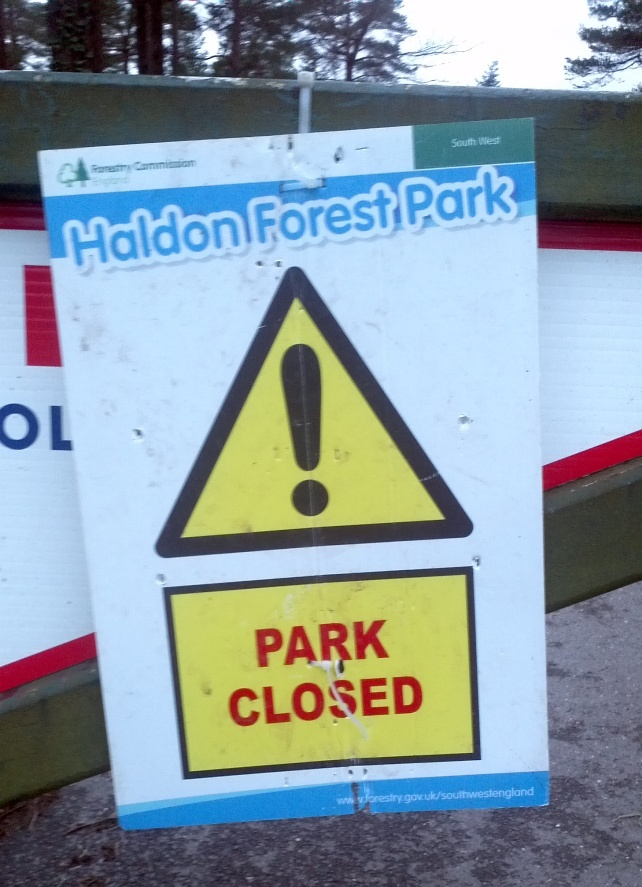 The entrance to Haldon Forest Park on February 24th 2014