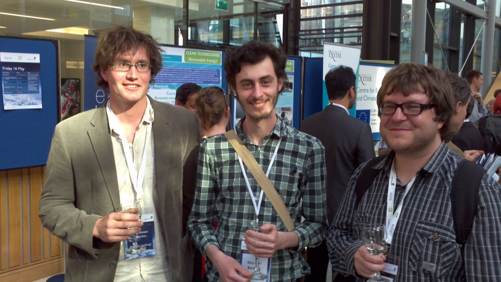 Tom Powell, Steve Beckett and Chris Boulton at the public forum of the Transformational Climate Science conference