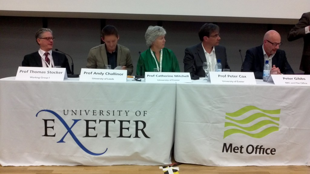 The panel for the public forum of the Transformational Climate Science conference