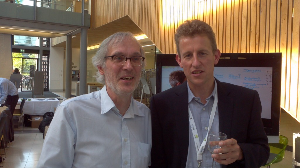 Your faithful scribe with Tim Lenton at the Transformational Climate Science conference