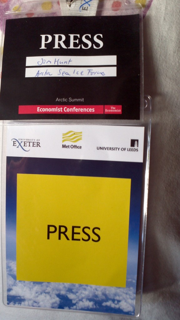 """A couple of press passes for a couple of """"summits"""""""