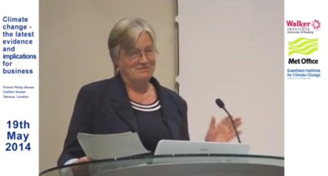 """Prof. Dame Julia Slingo summing up at the Met Office's """"Climate Change – The Latest Evidence and Implications"""" conference"""