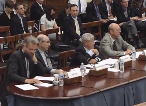 """The expert witnesses during their """"IPCC interrogation"""" in Washington DC"""